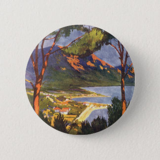 Vintage Travel, Cape Town, a City in South Africa Button