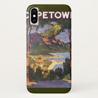 Vintage Travel, Cape Town, a City in South Africa iPhone X Case