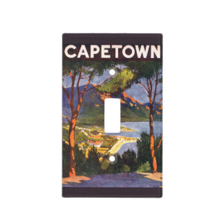 Vintage Travel, Cape Town, a City in South Africa Light Switch Cover
