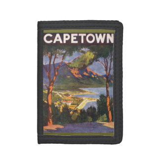 Vintage Travel, Cape Town, a City in South Africa Trifold Wallet