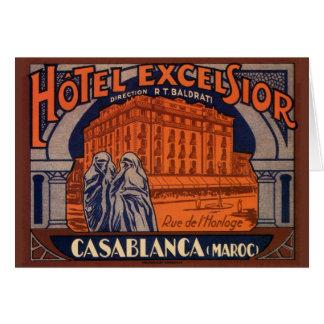 Vintage Travel, Casablanca in Morocco, Africa Card