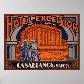 Vintage Travel, Casablanca in Morocco, Africa Poster