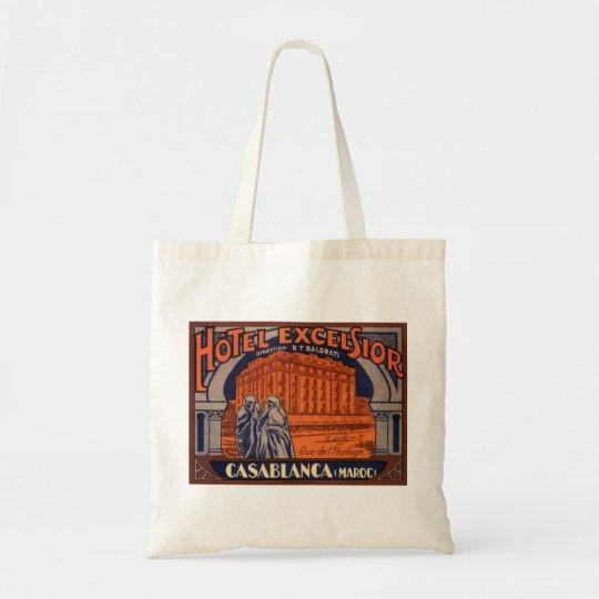 Vintage Travel, Casablanca in Morocco, Africa Tote Bag