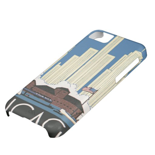 Vintage Travel Chicago Has Everything City Skyline iPhone 5C Covers