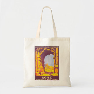 Vintage Travel, Coliseum, Rome Italy Italian Tote Bag