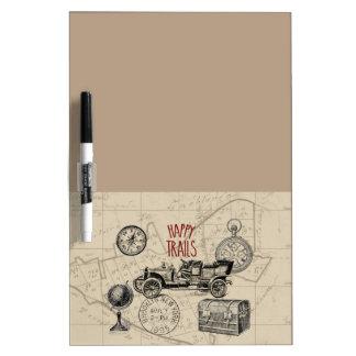 Vintage Travel Collage, Antique Car Road Trip Dry-Erase Board