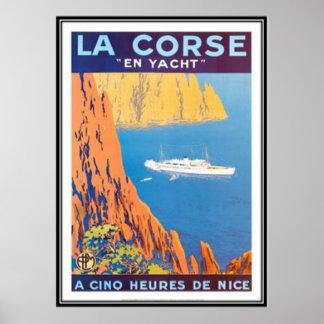 Vintage travel Corsica - Print