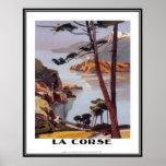 Vintage travel Corsica - Poster