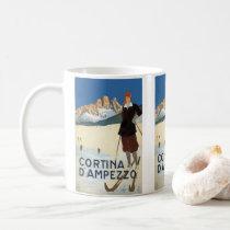 Vintage Travel Cortina d'Ampezzo, Italy Ski Alps