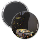 Vintage Travel, Cruise Ship and Antique Car 2 Inch Round Magnet