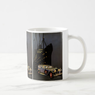Vintage Travel, Cruise Ship and Antique Car Coffee Mug