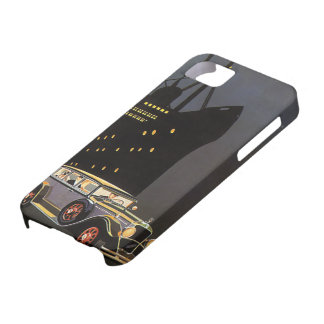 Vintage Travel, Cruise Ship and Antique Car iPhone SE/5/5s Case