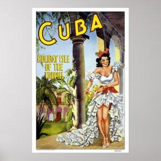 Vintage travel,Cuba Posters