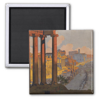 Vintage Travel Design with Roman Forum in View Magnet