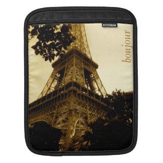 Vintage Travel, Eiffel Tower, Paris France iPad Sleeves