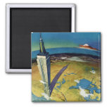 Vintage Travel Empire State Building New York City 2 Inch Square Magnet