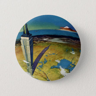 Vintage Travel Empire State Building New York City Button