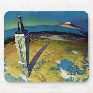 Vintage Travel Empire State Building New York City Mouse Pad