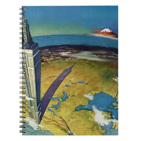 Vintage Travel Empire State Building New York City Notebook