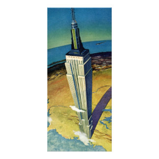 Vintage Travel Empire State Building New York City Personalized Rack Card