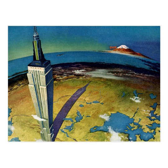 Vintage Travel Empire State Building New York City Postcard