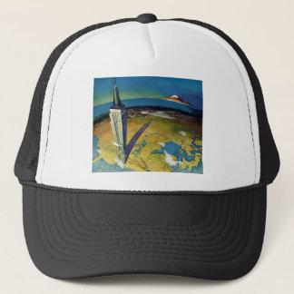 Vintage Travel Empire State Building New York City Trucker Hat