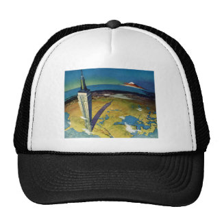 Vintage Travel Empire State Building New York City Trucker Hat