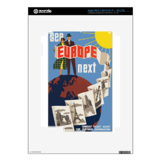 Vintage Travel Europe Decals For iPad 3