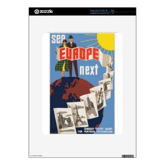 Vintage Travel Europe Skins For The iPad