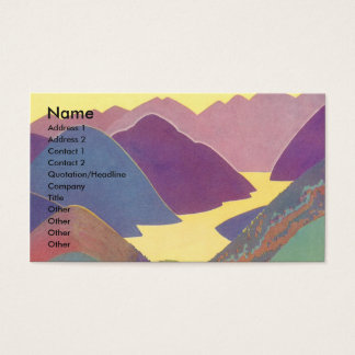 Vintage Travel, Family Picnic, Mountain Vacation Business Card
