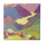 Vintage Travel, Family Picnic, Mountain Vacation Tiles