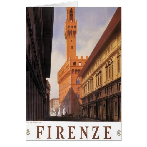 Vintage Travel, Firenze, Florence, Palazzo Vecchio