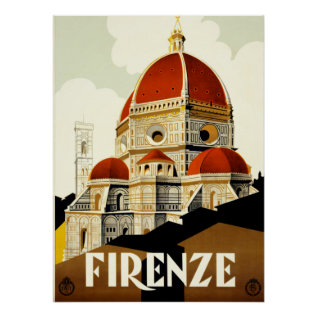 Vintage Travel Firenze Italy Print at Zazzle