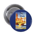 Vintage Travel Florence Firenze Italy Bridge River Pins