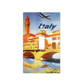 Vintage Travel Florence Firenze Italy Bridge River Light Switch Covers