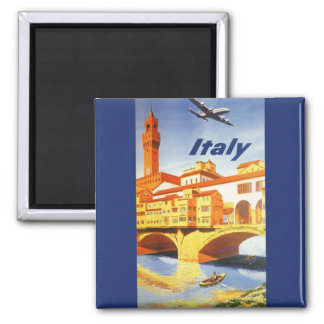 Vintage Travel Florence Firenze Italy Bridge River Magnet