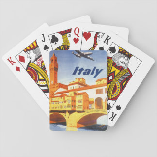 Vintage Travel Florence Firenze Italy Bridge River Playing Cards