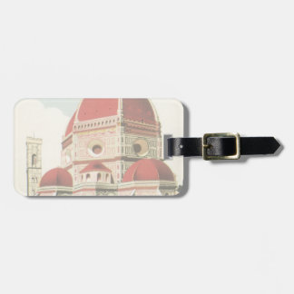 Vintage Travel Florence Firenze Italy Church Duomo Bag Tag