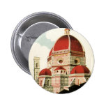 Vintage Travel Florence Firenze Italy Church Duomo Button