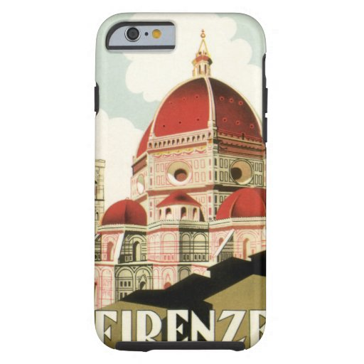 Vintage Travel Florence Firenze Italy Church Duomo iPhone 6 Case