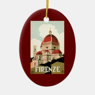 Vintage Travel Florence Firenze Italy Church Duomo Ceramic Ornament