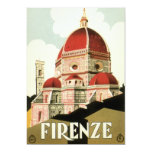 Vintage Travel Florence Firenze Italy Church Duomo Custom Invitations