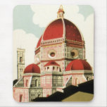 Vintage Travel Florence Firenze Italy Church Duomo Mouse Pad
