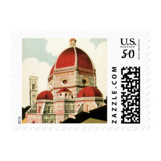 Vintage Travel Florence Firenze Italy Church Duomo Postage