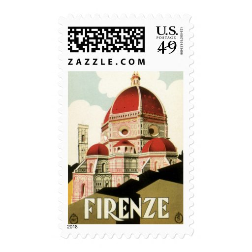 Vintage Travel Florence Firenze Italy Church Duomo Postage Stamp