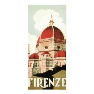 Vintage Travel Florence Firenze Italy Church Duomo Rack Card