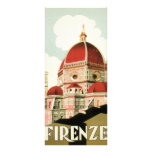 Vintage Travel Florence Firenze Italy Church Duomo Full Color Rack Card