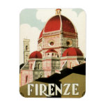 Vintage Travel Florence Firenze Italy Church Duomo Rectangular Photo Magnet