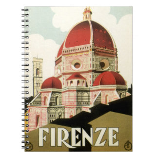 Vintage Travel Florence Firenze Italy Church Duomo Spiral Notebook
