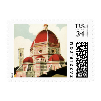 Vintage Travel Florence Firenze Italy Church Duomo Stamp